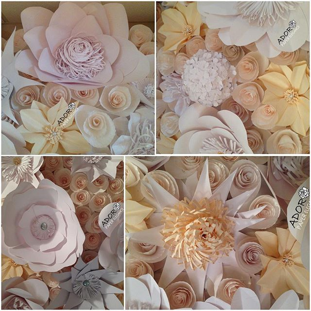 Some of the details on a floral backdrop we did this weekend at _cascadeweddings for an amazing brid