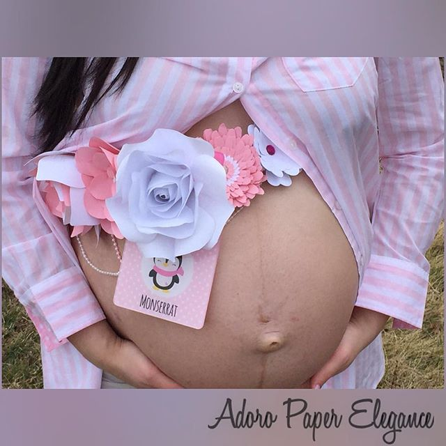 Happy #fbf to all. A look at one of our lovely mommy-to-be in her stunning paper flower maternity sa