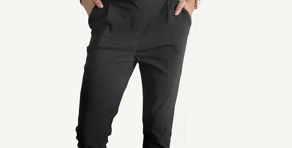 Pantalon noir avec noeud