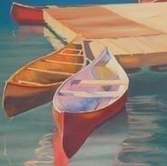 CANOES MORRAINE LAKE