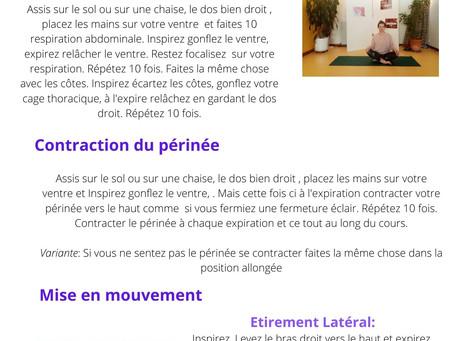 Séance de Pilates spécial confinement ;)