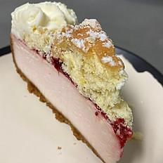 Raspberry Donut Cheesecake