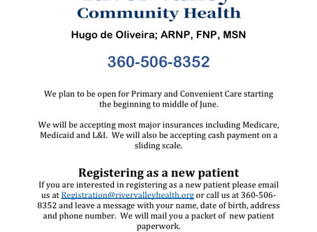 We have been hard at work getting our clinic set up this week! We have new patient registration pack