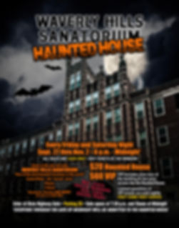 2019 Waverly Hills Haunted House Poster-