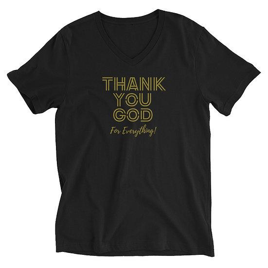 Thank You God- V-Neck T-Shirt