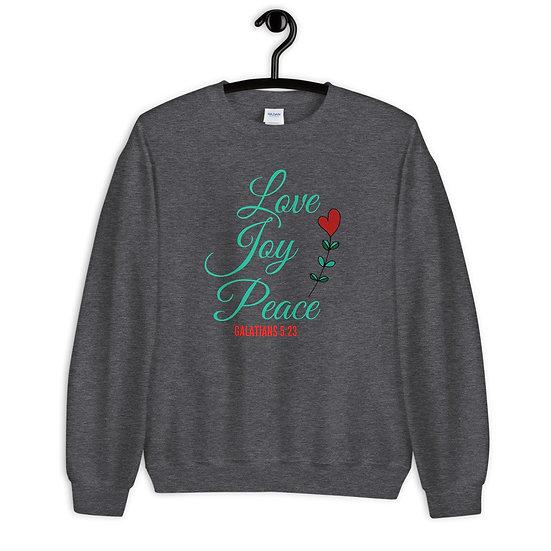 WTGA- Love. Joy, Peace- Unisex Sweatshirt
