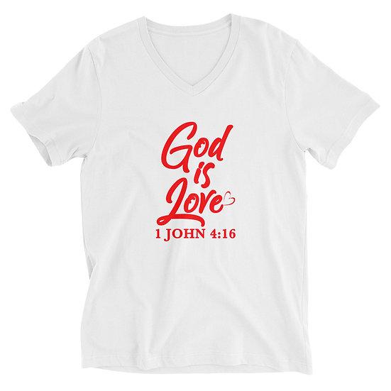 WTGA - 1 John 4:16 Unisex Short Sleeve V-Neck T-Shirt