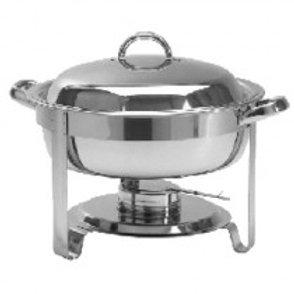 Dish Chafing Round - Single - inc Fuel Gel
