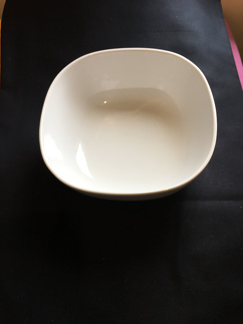 Bowl Serving White Square Rounded Various