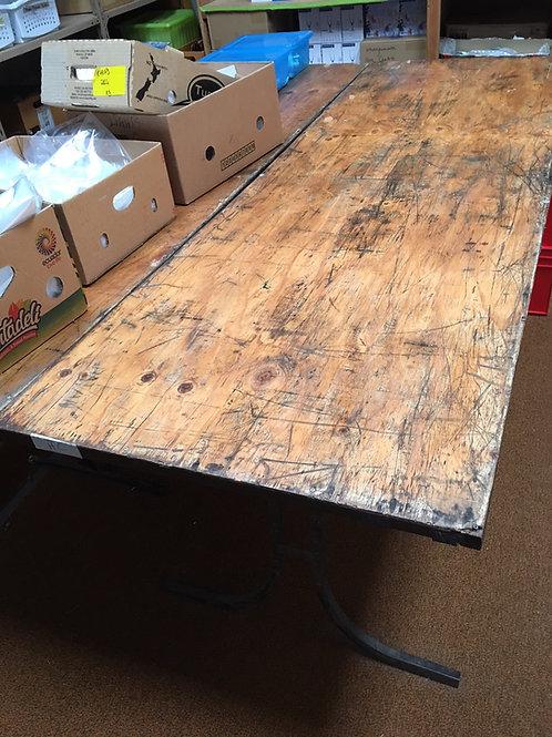 Table Trestle Wooden 1.8L x 670W Steel Legs