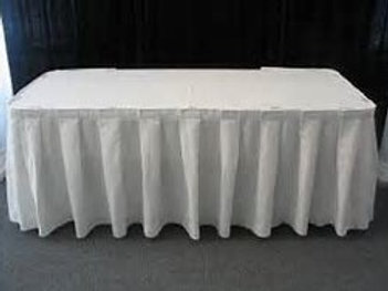 Box Pleat table Skirt 3m