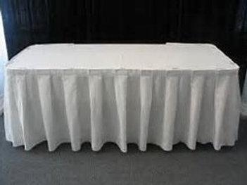 Box Pleat table Skirt 5m