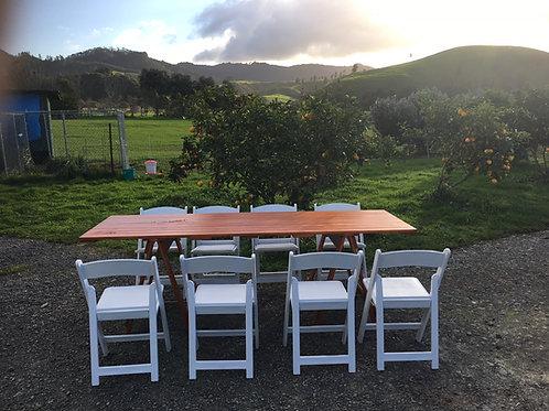 Table Wooden Trestle 2.4L x 820W