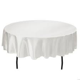 Tablecloth White Round 1.80