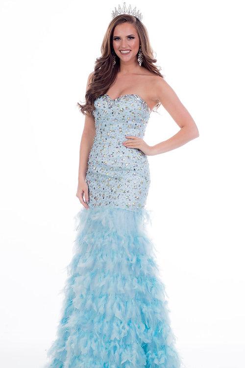 Dress Rentals   Utah   Celebrate Everyday   Mermaid baby blue Feather