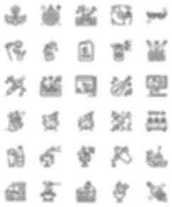 Party Celebration Outline Icon Set