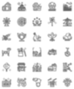 Carnival Outline Icons Set