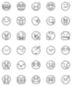 Smileys Emoji Outline Icons