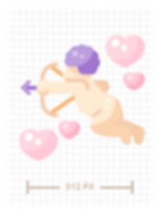 Cupid Flat Icon Illustration