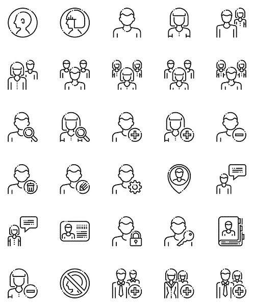 User Outline Icons Set