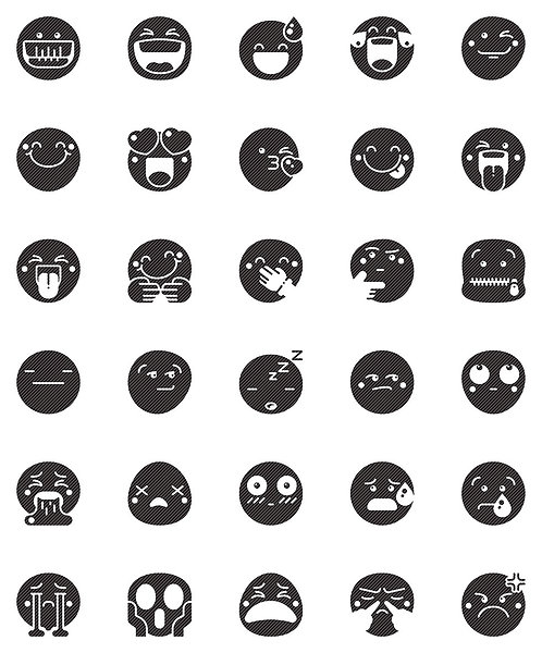 Smileys Glyph Icons Set