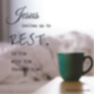 Jesus invites me to rest in Him.