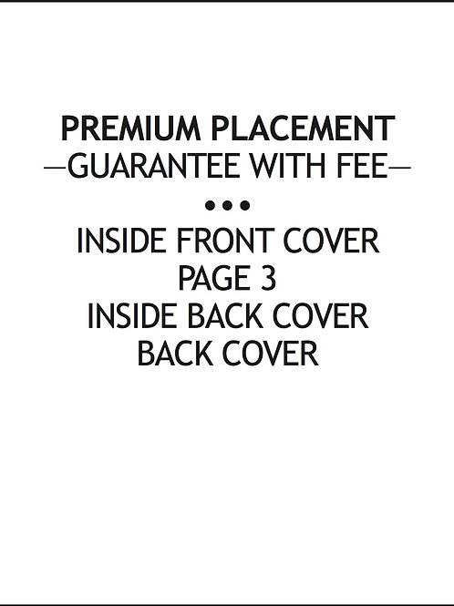 — PREMIUM PLACEMENT — $125/AD