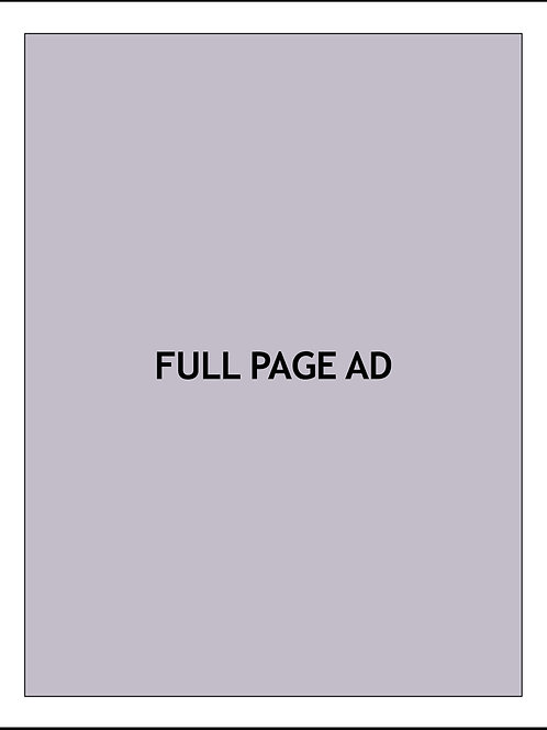 FULL PAGE AD — 1 MONTH $2800/AD