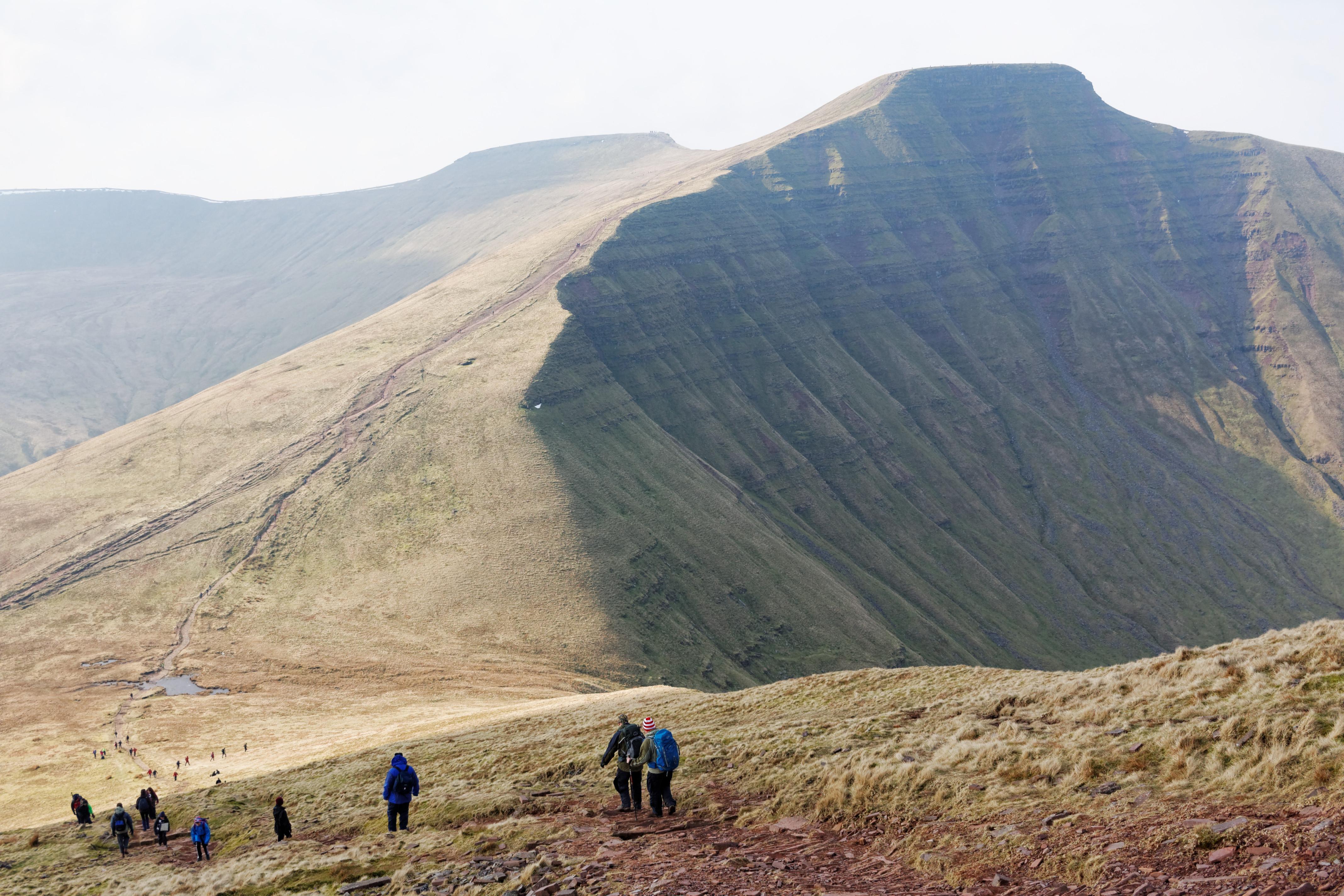 South Wales highest mountain Pen-y-fan
