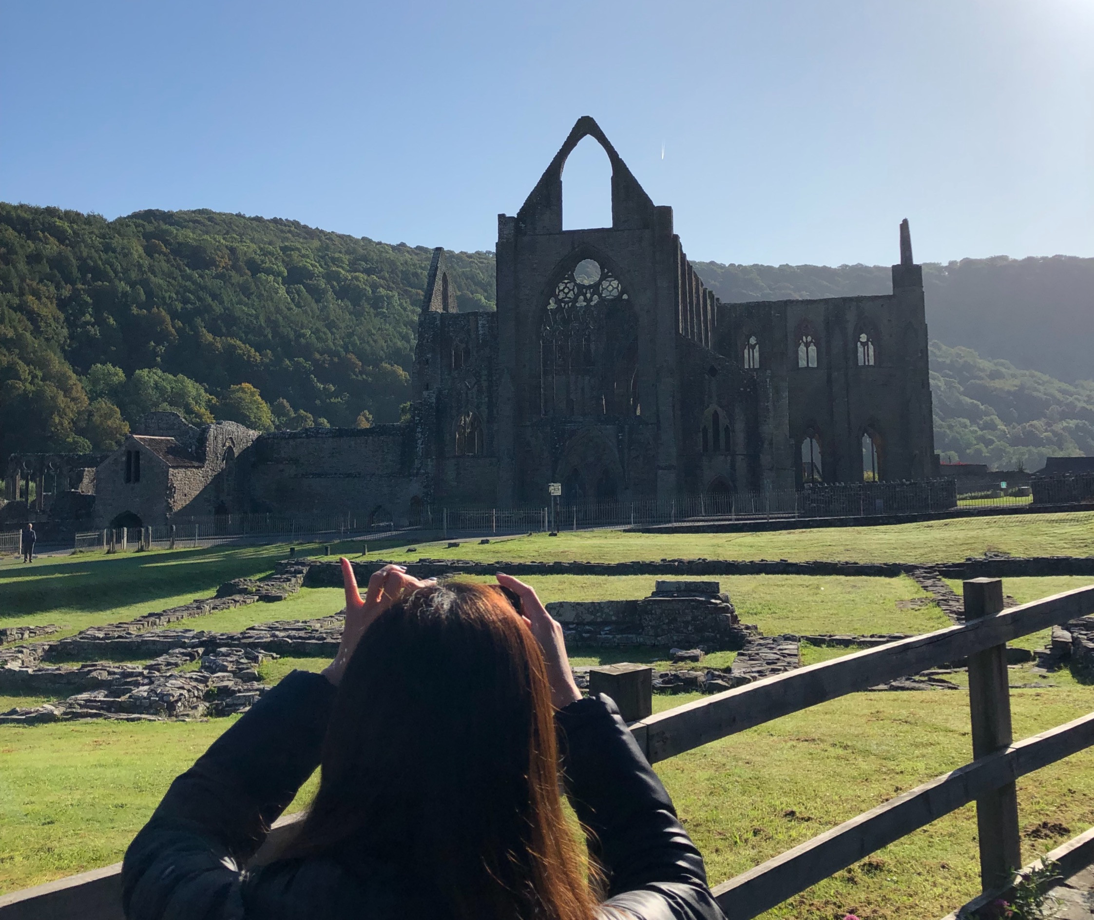 Tintern Abbey and the River Wye valley