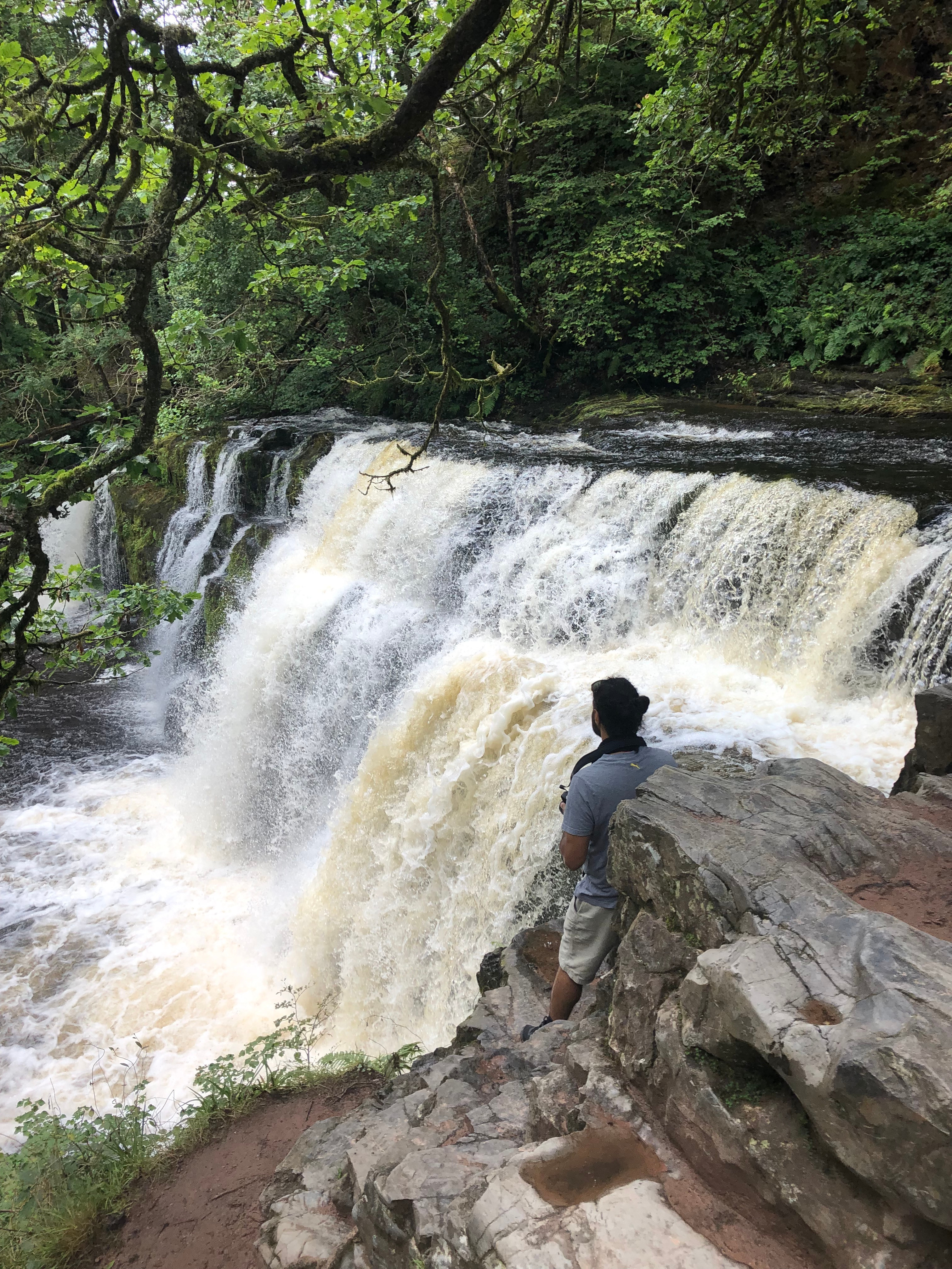 The iconic Brecon Beacons Waterfall Walk