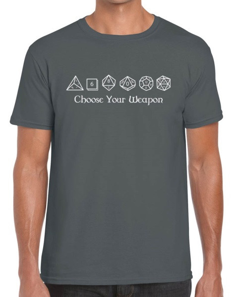 ae9d1182 Choose Your Weapon Dungeons And Dragons Dice D&D RPG T-Shirt
