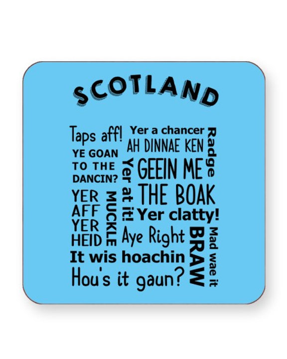 Scottish Slang Words - Funny Dialect - Barware Home Kitchen Drinks Coasters  | EverythingFunky