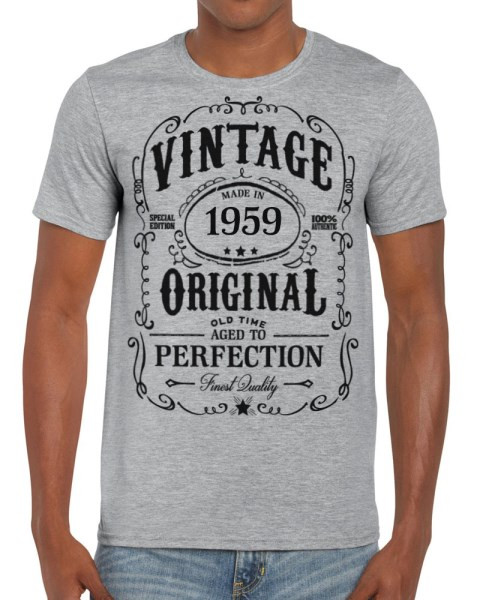 1bf52613 60th Birthday - Vintage Made in 1959 Aged to Perfection T-Shirt