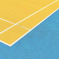 Peinture terrain de tennis