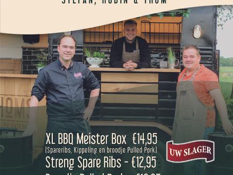 Stefan, Robin en Thom organiseren drive-thru BBQ tijdens Hemelvaart