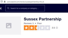 Reviews of Sussex Partnership NHS Foundation Trust
