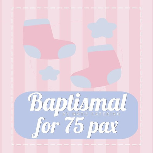 BAPTISMAL PACKAGES FOR 75PAX