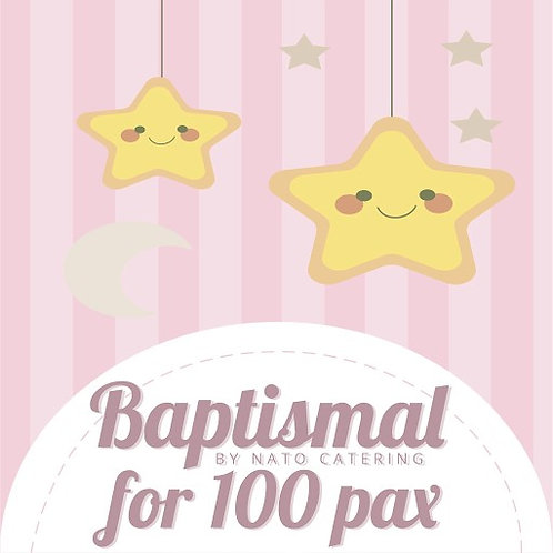 BAPTISMAL PACKAGES FOR 100PAX