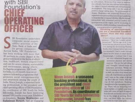 President and COO, SBI Foundation: Sharing his views on the youth and on running marathons