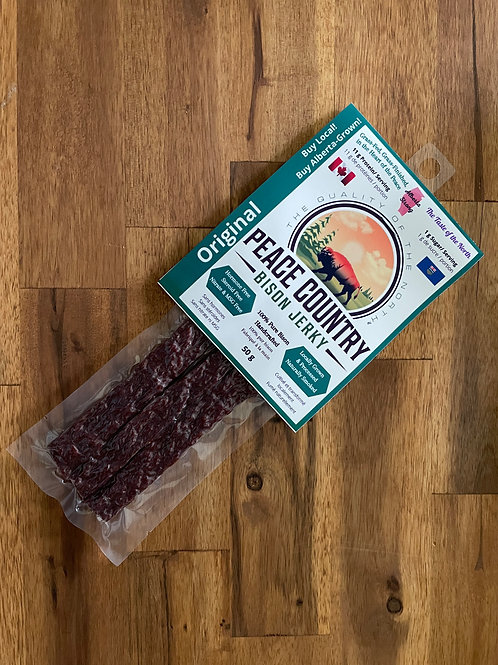 Peace Country Bison Jerky - Original Pressed 50g