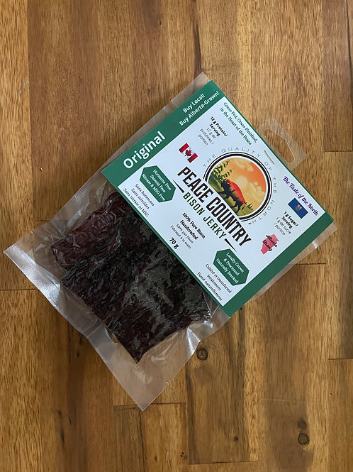 Peace Country Bison Jerky - Original Sliced 70g