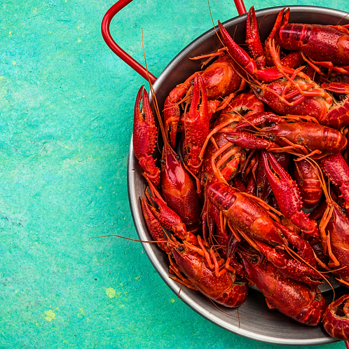 Crawfish 10/15 per LBS. Cooked and seasoned.  5 pounds