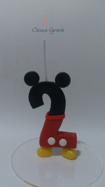 vela de 2 aninhos do mickey