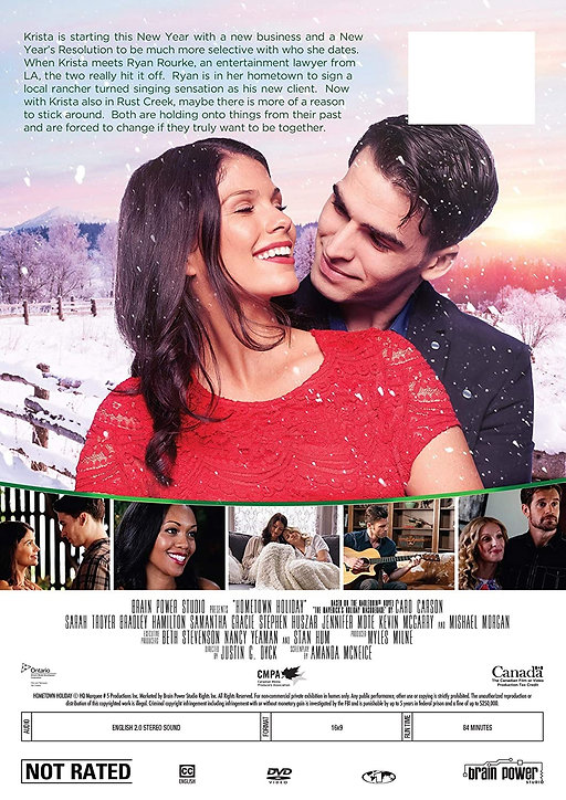 Movie poster, Hometown Holiday, based on The Maverick's Holiday Masquerade by Caro Carson, author