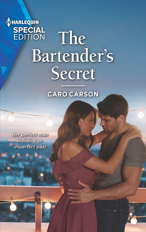 The Bartender's Secret by Caro Carson romance book cover