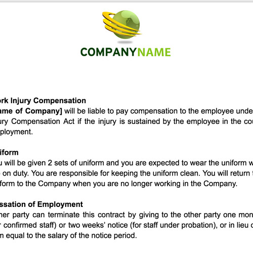 Anne Caron Consulting HR Consulting Services – Employee Uniform Form