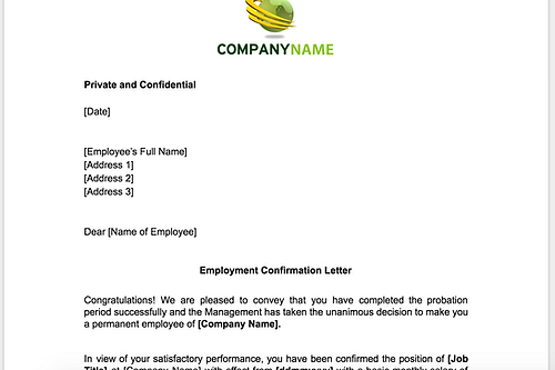 Anne caron consulting hr consulting services employment employment confirmation letter after probation spiritdancerdesigns Image collections