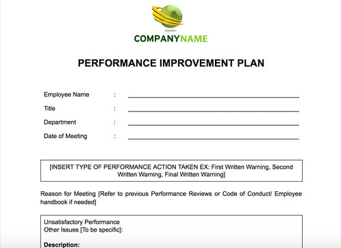 This Document Is A Performance Action Plan For Under Performing Employees  And Managers To Understand The Reasons Behind The Poor Performance And How  To ...
