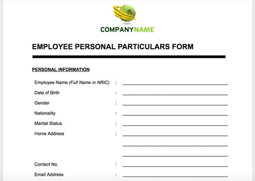 Employee Personal Particular Form | Anne Caron Consulting | HR ...